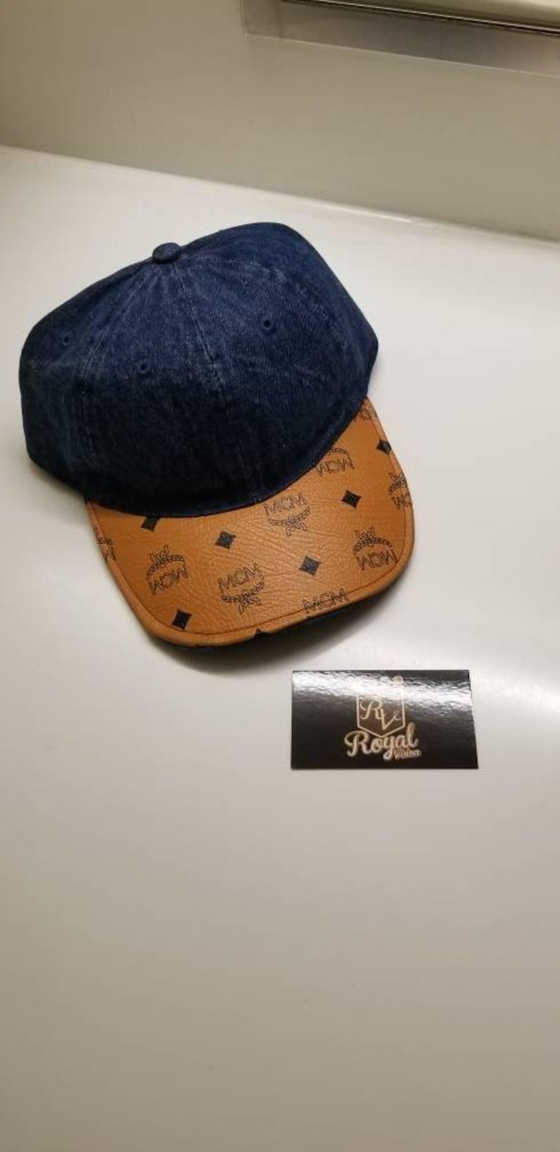 ab85b655 Custom McM Dark Blue Denim Dad Hat with Adjustable Strap | Etsy