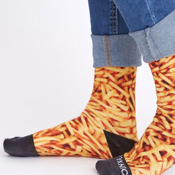 neue Season Qualität und Quantität zugesichert Modestil Lustige Socken, Pommes frites, Neuheit Socken, Unisex, Herren Socken,  Socken, Frauen, bunte Socken, Spaß Socken, Papa Socken, Freund, Geschenk  für ...