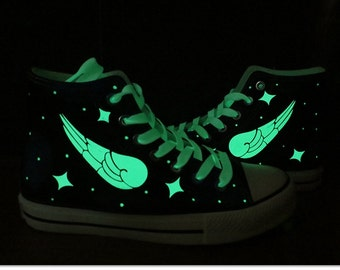 Items similar to Luminous galaxy sneakers light shoes, High