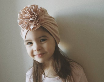 4407dfa10f56 Flower turban hat, baby hat, infant hat, flower hat, flower turban, baby  shower gift, baby gifts, baby girl hats, turbans for babies