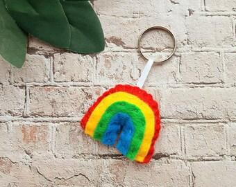 Rainbow Keyring, Pick me up, Rainbow of Hope, Isolation Lockdown Gift, nhs Key Worker