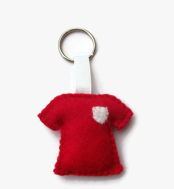 Maillot de foot, idées cadeaux pour homme, maillot de football, des cadeaux pour lui, le Football porte-clé, porte clés en feutrine