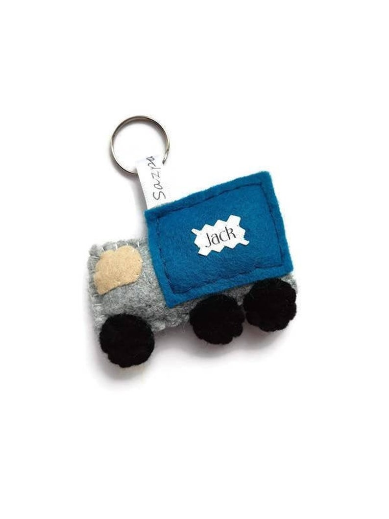 Personalised Truck Keyring White Van Man Delivery Driver image 0