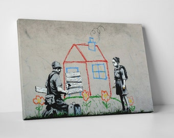 Evicted By Banksy Gallery Wrapped Canvas Print BONUS BANKSY DECAL