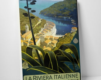 Vintage Apple 'LaRiviera Italienne' Gallery Wrapped Canvas Print