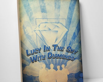 Lucy in the Sky with Diamonds Gallery Wrapped Canvas Print