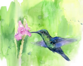 Bird Painting Print, Watercolor Bird, Watercolor Print, Bird Print, Wall Art