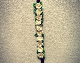 Dog Ring Bearer Dog Collar Cream Rose Dog Collar Rose Puppy Collar Rose wedding dog collar