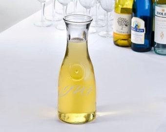 Glass Carafe | Serve Wine, Tea, Water, Salad Dressing | Personalized - Custom Engraved