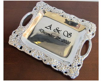 Personalized Serving Tray | Custom Pewter Serving Tray