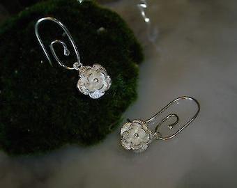 Mix & Match Earrings chain Einhänger flower camellia blossoms Pandora