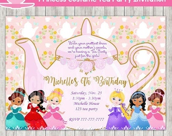 Girls tea party invitations Etsy