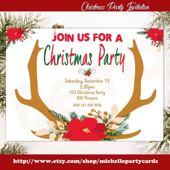 Christmas Invitation.Christmas Party Invitation Christmas Birthday Holiday Party Christmas Invitation Christmas Invite Holiday Party Invitation Christmas