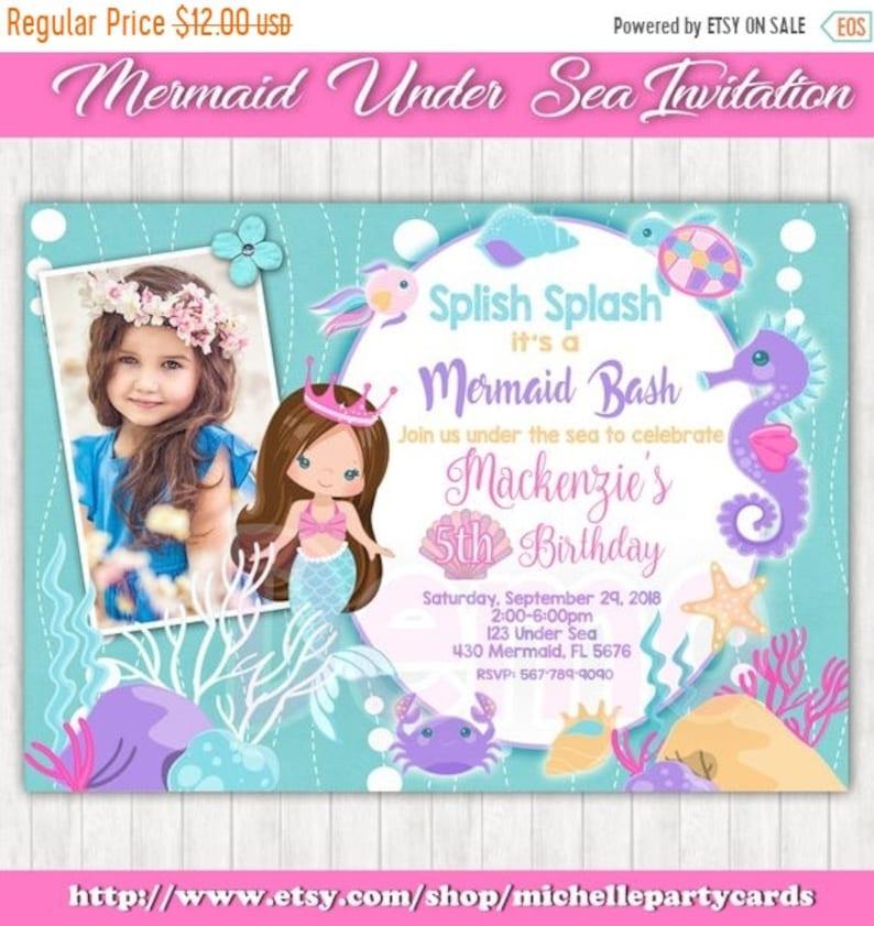 55off Mermaid Under The Sea Invitation