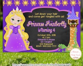 TANGLED, RAPUNZEL  INVITATION-Tangled invitation-Tangled birthday-tangledinvite-tangled party-Rapunzel invite-princess invitation-princess
