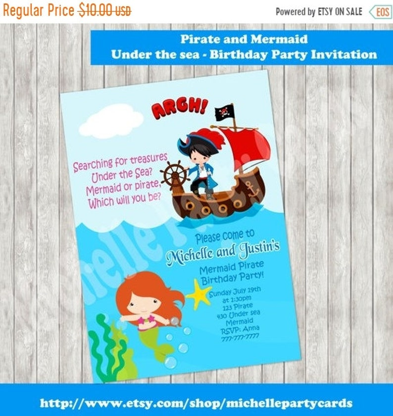 55off Pirate And Mermaid Under The Sea Birthday Party
