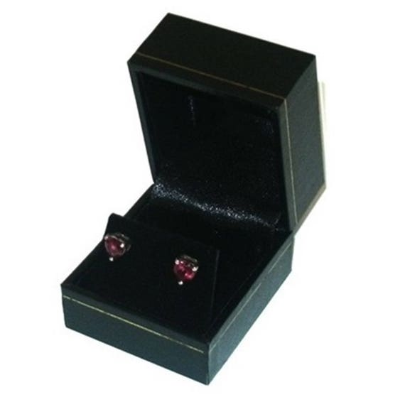12 Black Velvet /& Brass Accent Earring Jewelry Display Presentation Gift Boxes