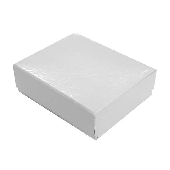 Lot of 500 Small Black Swirl Cotton Fill Jewelry Gift Boxes 2 1//8 x 1 1//2 x 5//8