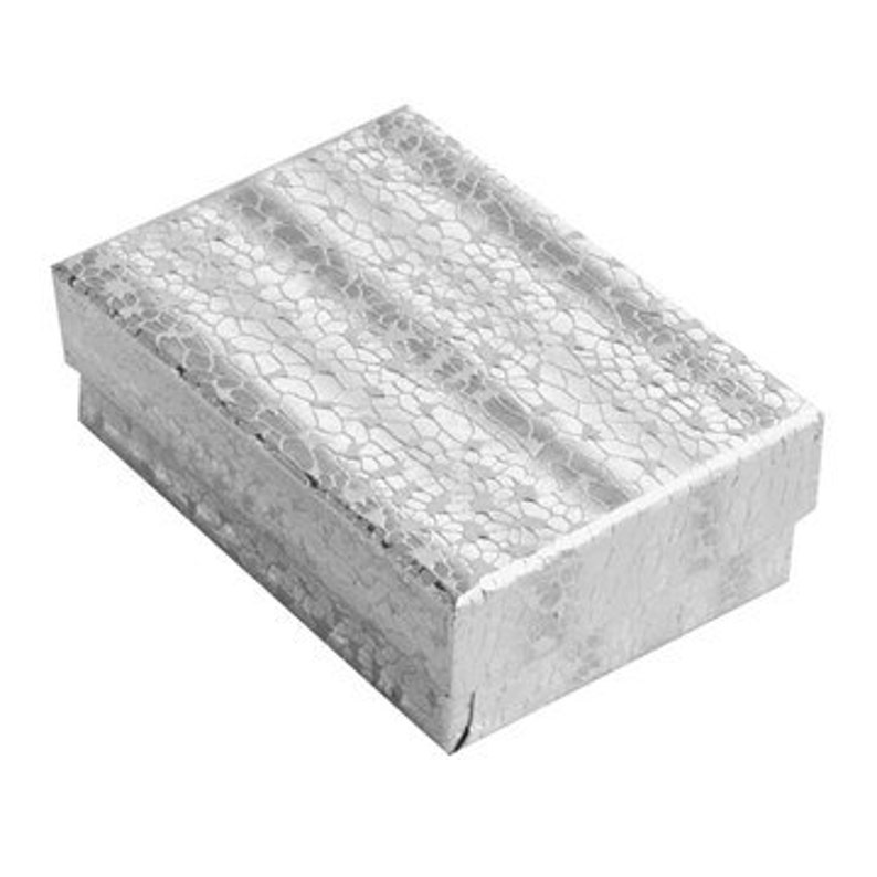 Wholesale Lot 1000 Silver Cotton Fill Jewelry Display Packaging Gift Boxes 2 5//8