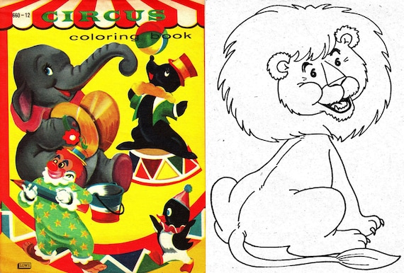 OFFER!! 5 Coloring books circus, clowns to color 50\'s - 70\'s. Instant  Download, PDF format (RM110)