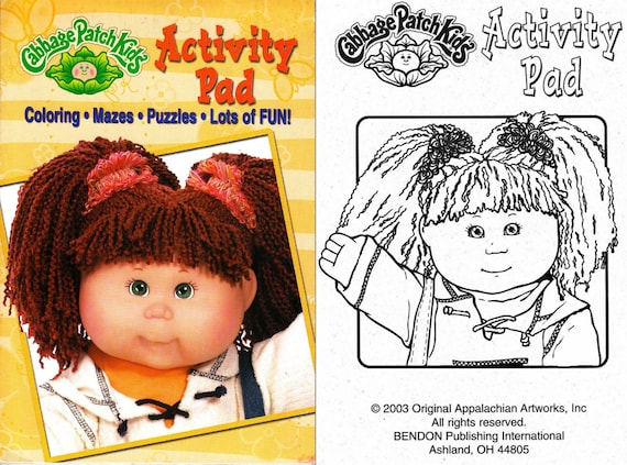 Offer 3 Cabbage Patch Kids Coloring Activity Books Instant Etsy