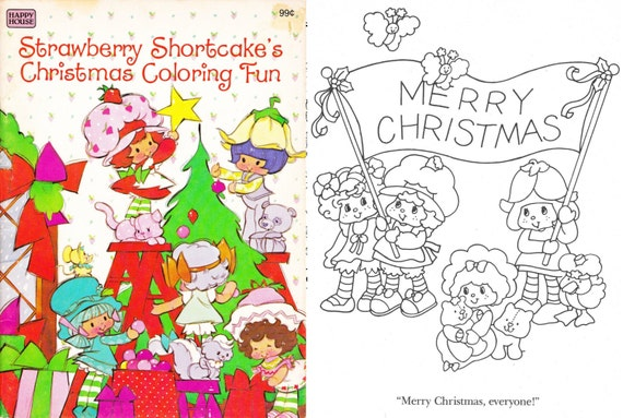 OFFER!! 8 Strawberry Shortcake\'s books: 3 vintage coloring books + 1 Busy  book + 4 paper dolls, instant download, PDF format