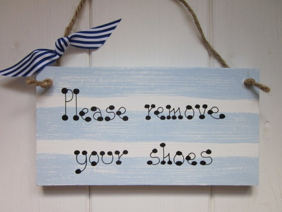 Please Remove Your Shoes Welcome New Home Gift Plaque Sign Owl Shabby Chic