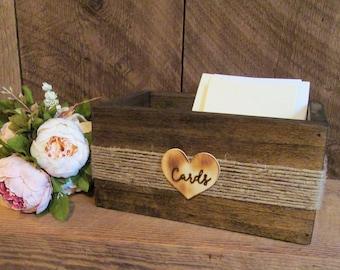 Wedding card box, rustic card box, Card Box, wood card holder, rustic card holder, wedding card sign, card box, card holder, card sign, card