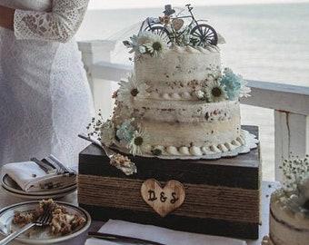 Cake stand, wedding cake stand, rustic cake stand, wood cake stand, dessert bar stand, rustic bridal shower decor, country wedding decor