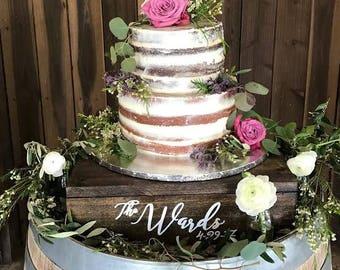 wedding dessert stand, wood cake stand, personalized cake stand, custom cake stand, rustic cake stand, cupcake stand, wedding cake stand