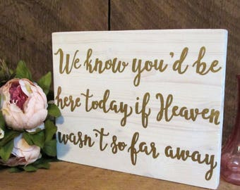 In loving memory, wood wedding sign, winter wedding decor, remembrance sign, heaven sign, rustic wedding sign, gold wedding decor, gold sign