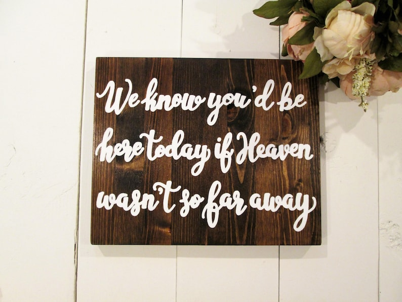 In loving memory wooden sign, heaven memorial sign, remembrance sign,  wedding decor, rustic wedding sign, wooden wedding sign, standing sign