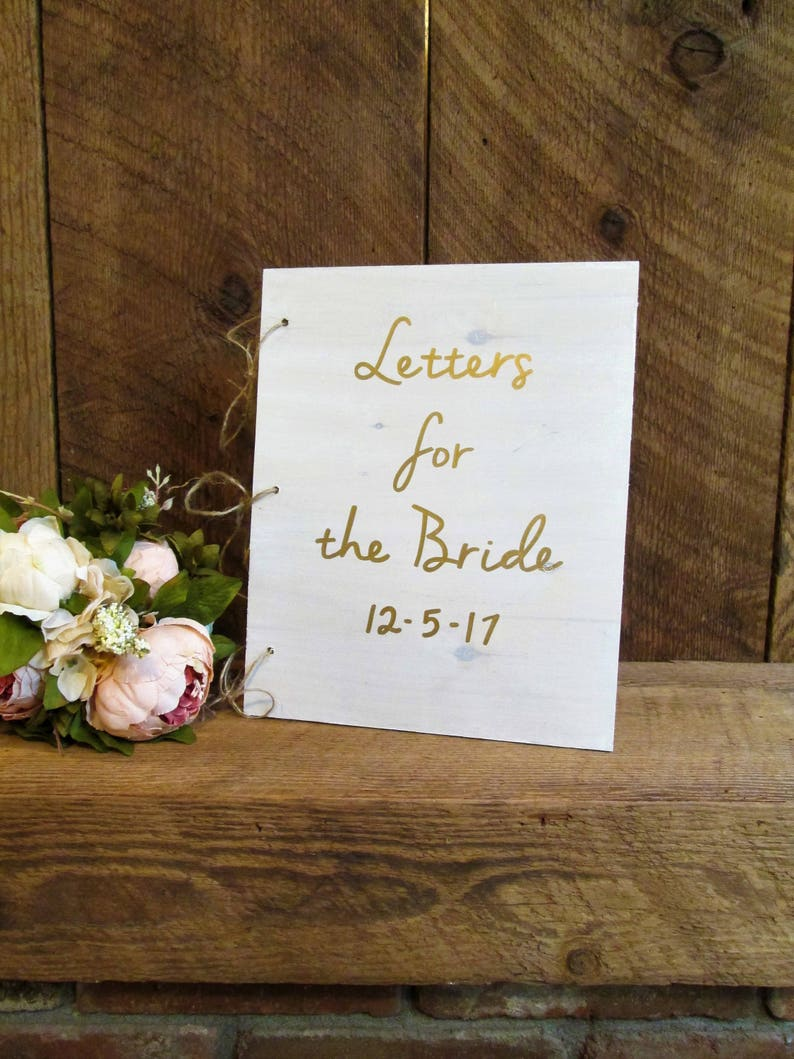 Admirable Letters For The Bride Wood Book Winter Wedding Decor White And Gold Personalized Custom Wooden Advice Book Advice For The Bride T Download Free Architecture Designs Remcamadebymaigaardcom