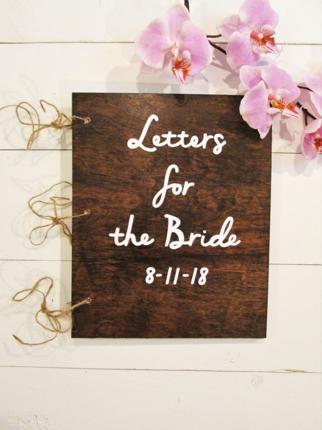 letters to the bride book bridal shower book bridal shower guest book advice for the bride