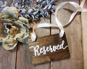 Hanging reserved sign, reserved sign, rustic reserved sign, wood reserved sign, reserved seating sign, seating sign, reserved, wood sign