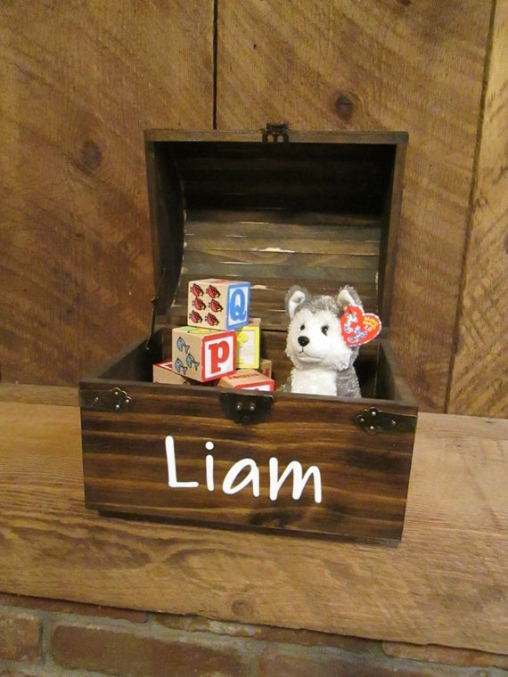 Personalized Wood Keepsake Trunk Wooden Chest Christmas Gift