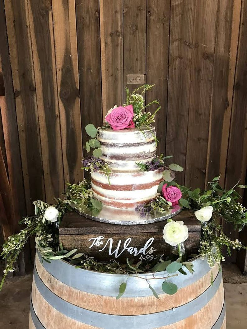 Wedding Cake Table.Rustic Personalized Wooden Cake Stand Custom Wedding Cake Stand Dessert Table Stand Wood Cake Stand Dessert Bar Decor Wedding Decor