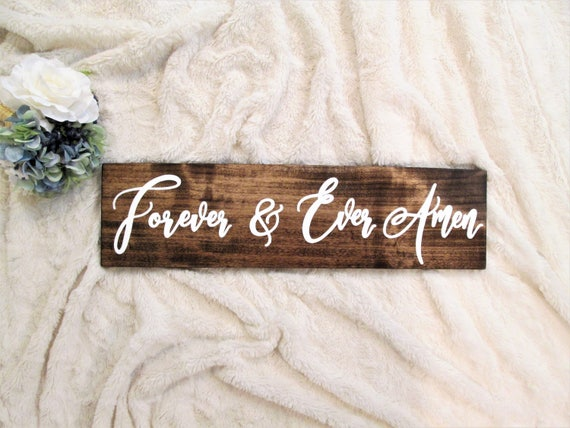 Forever and ever amen wood sign custom wooden wall decor | Etsy