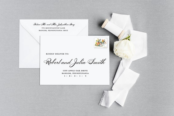 Wedding Invitation Envelope Address Printing Wedding Envelope Etsy