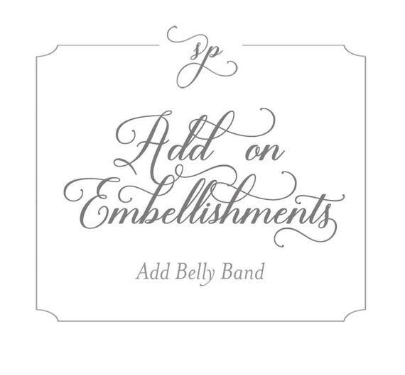 Invitation Embellishment Add Belly Band Etsy