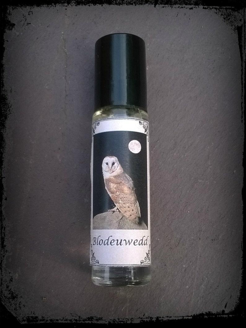 Blodeuwedd perfume oil Welsh mythology owls flowers image 0
