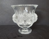 Vintage Lalique France Dampierre 12230 French Art Glass Bird Vase 4.75 quot Tall