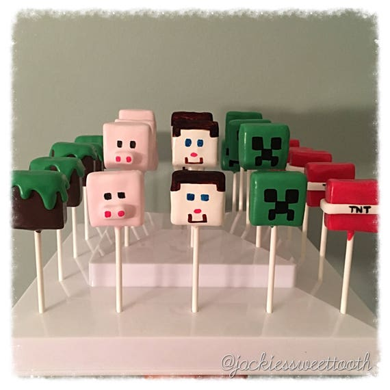 Minecraft Cake Pops Birthday Cake Pops Minecraft Party Etsy