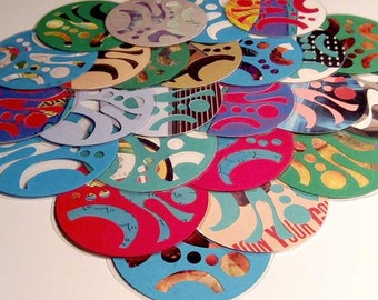 Laminated Paper Coasters - Handcrafted, colourful assortment and variety. No two are alike. Sets of 6, 12 or 24.