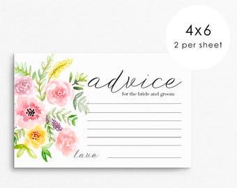 Wedding Advice Card for Bride and Groom / advice for the bride / wedding advice cards /wedding advice / advice cards / bride advice cards