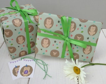 Hedgehog Gift Wrap