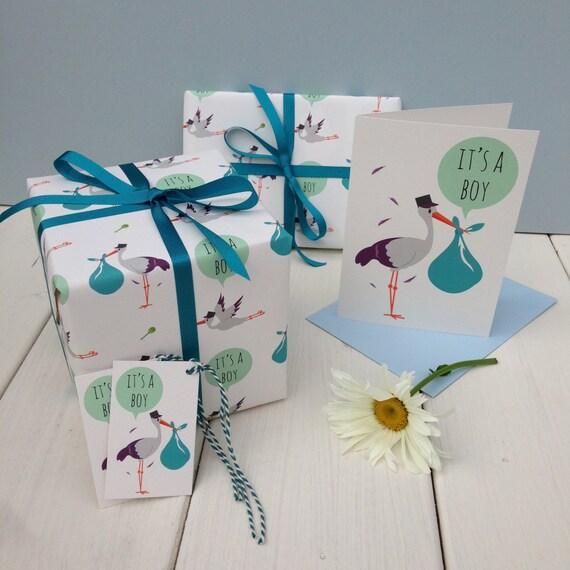 Baby Boy Gift Wrap Etsy
