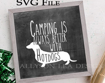 Dog Camping Weiner Dog Owner Weiner Dog TShirt Dachshund Owner Ladies Camping Girl Camper Gift Funny Camping Gift Girl Camping