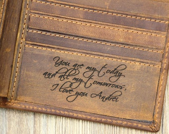 37144f5a5f98 Custom Husband s Wallet