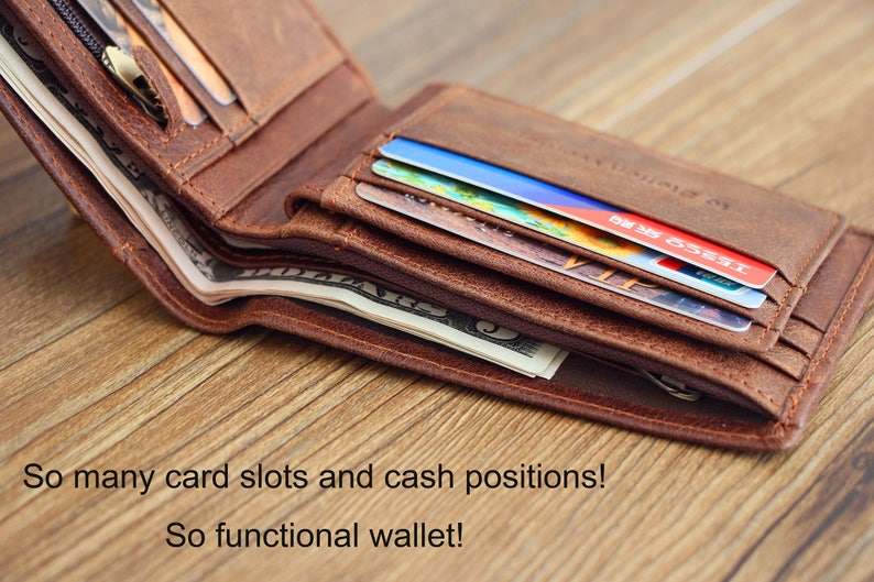 Personalized Wallet; Anniversary Gift for Men; Father/'s Day Gift; Xmas Gift; Graduation Gift; groomsmen gifts; Christmas Gift; Men/'s Wallet